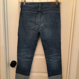 Ag Adriano Goldschmied Jeans - AG The Isabelle Sz 30 High Rise Straight Crop Jean